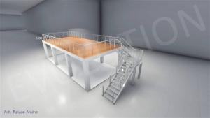 Stand cu etaj modul 5m x 11m 1 300x169 Stand cu etaj modul 5m x 11m   1