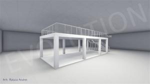 Stand cu etaj modul 5m x 11m 2 300x169 Stand cu etaj modul 5m x 11m   2