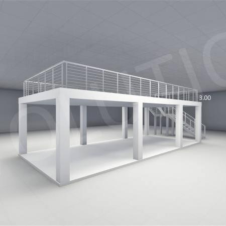 Stand cu etaj modul 5m x 11m 2 450x450 Stand cu etaj modul 5m x 11m