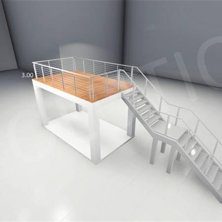 Stand cu etaj modul 5m x 3m 1 1 450x450 Stand cu etaj modul 5m x 3m