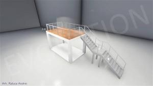 Stand cu etaj modul 5m x 3m 1 300x169 Stand cu etaj modul 5m x 3m   1