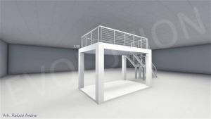 Stand cu etaj modul 5m x 3m 2 300x169 Stand cu etaj modul 5m x 3m   2