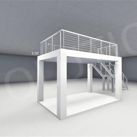 Stand cu etaj modul 5m x 3m 2 450x450 Stand cu etaj modul 5m x 3m