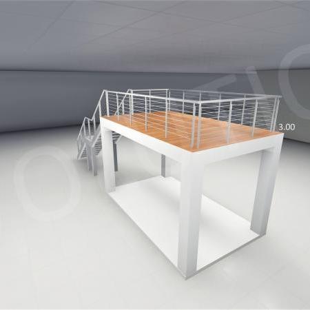 Stand cu etaj modul 5m x 3m 3 450x450 Stand cu etaj modul 5m x 3m