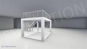 Stand cu etaj modul 5m x 4m 2 300x169 Stand cu etaj modul 5m x 4m   2