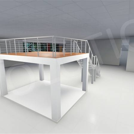 Stand cu etaj modul 5m x 4m 3 450x450 Stand cu etaj modul 5m x 4m
