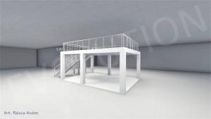 Stand cu etaj modul 5m x 7m 2 300x169 Stand cu etaj modul 5m x 7m   2