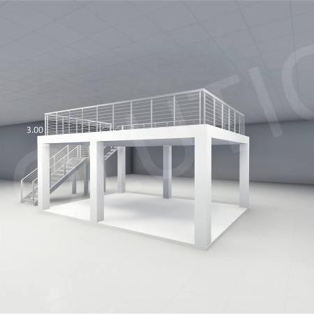 Stand cu etaj modul 5m x 7m 2 450x450 Stand cu etaj modul 5m x 7m