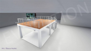 Stand cu etaj modul 5m x 7m 3 300x169 Stand cu etaj modul 5m x 7m   3