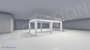 Stand cu etaj modul 5m x 8m 2 300x169 Stand cu etaj modul 5m x 8m   2