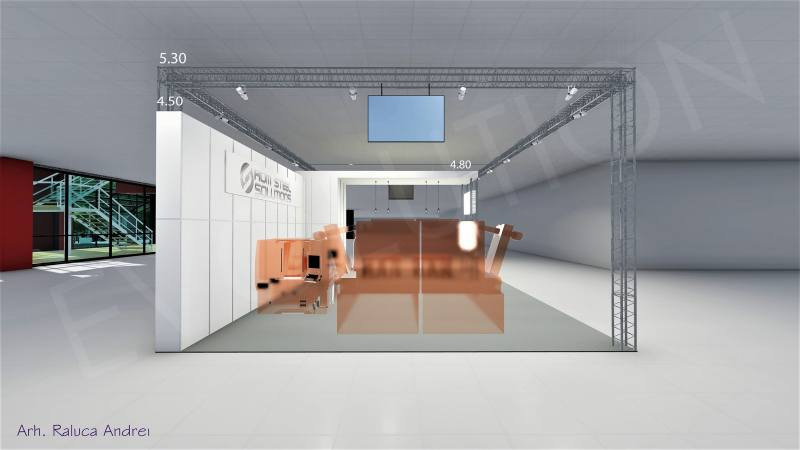 Romsteel Proiect 04 Expoevolution   Standuri expozitionale